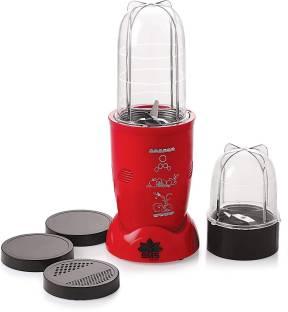 BMS Lifestyle High-Speed Nutri-Blender 400 Juicer Mixer Grinder (2 Jars, Red)