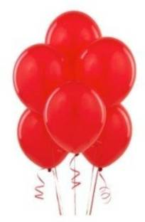 Smartcraft Solid Metallic Balloons - Pack of 100 (Red) Balloon