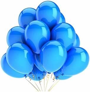 Smartcraft Solid Metallic Balloons - Pack of 100 (Blue) Balloon