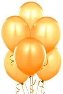 Smartcraft Solid Metallic Balloons - Pack of 100 (Gold) Balloon