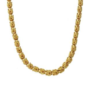 cd881f9f347 Memoir Gold plated Pull cable design Handmade Chain necklace Men Women  Traditional Gold-plated Plated
