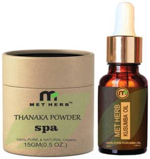 Metherb permanent hair removal Thanaka powder 15 g & kusumba oil 15ml