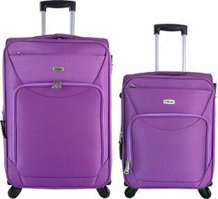 6ecb65111 Timus Upbeat Spinner Wine 55 & 65 cm 4 Wheel Strolley Suitcase For Travel  SET OF