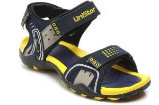 830ecb932245d8 Unistar Men Navy-L.Grey-L.Yellow Sports Sandals
