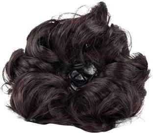 Honbon Women curly Hair Bride Bun juda rubber free size Natural Black Pack Of 1 … Bun