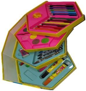 861ec0178 Trade Globe Colors Box Color Pencil ,Crayons, Water Color, Sketch Pens Set  of