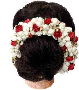 f2e10fa56 Raaya New Style Juda Bun Hair Gajra For Bridal Accessories For Girls Hair  Gajra Flowers Artificial