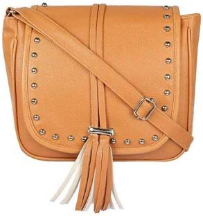 499bb0b5ffe4 Ivory Tag Women Casual Tan Genuine Leather Sling Bag Tan - Price in ...