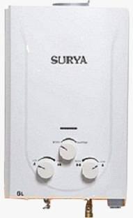 SURYA 6 L Gas Water Geyser (Gas Geyser, White)
