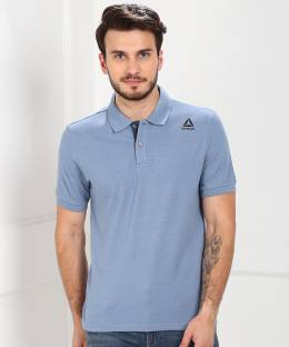 Decathlon - INESIS Solid Men Polo Neck Blue T-Shirt - Buy Decathlon ... 4276e4db4a75c
