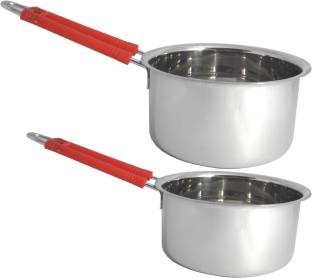 bartan hub induction friendly sauce pan set of 2 Induction Bottom Cookware Set