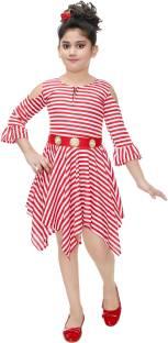 9dfbfe6cd Crazeis Girls Midi Knee Length Party Dress Price in India - Buy ...