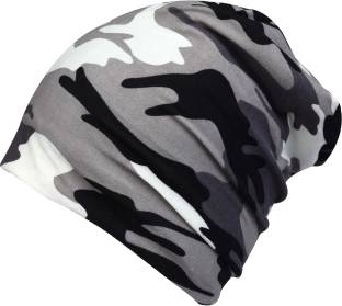 9afd3866350 FabSeasons Printed Camouflage Beanie for Men   Women with Faux Fur on the  inner side for