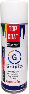 Grapits General Purpose Interior and Exterior Spray Paint (Gloss White) Gloss White Spray Paint 400 ml