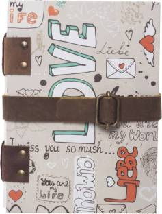 DI-KRAFT Handcrafted Cardbord Diary A5 Diary Unruled 200 Pages