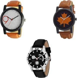 fc4b5b0cc NEUTRON Latest Casual Brown And Black Color 3 Watch Combo (B33-B34-B58