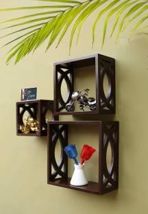 Onlineshoppee AFR1103 Wooden Wall Shelf