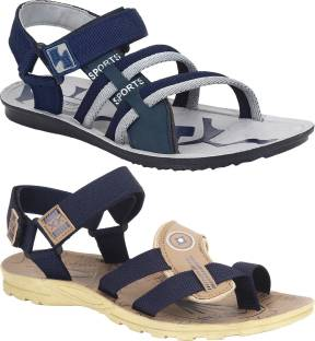 1a60ec2f7098 Roadster Men Navy  Beige Sports Sandals - Buy Navy