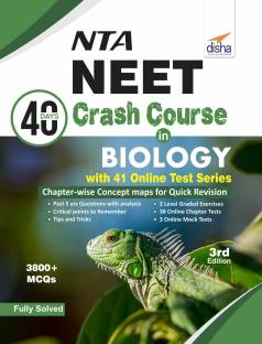 NTA NEET 40 Days Crash Course in Biology with 41 Online Test Series 3rd Edition - 3800+ MCQs Third Edition