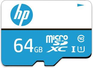 HP U1 64 GB MicroSDXC Class 10 100 MB/s  Memory Card