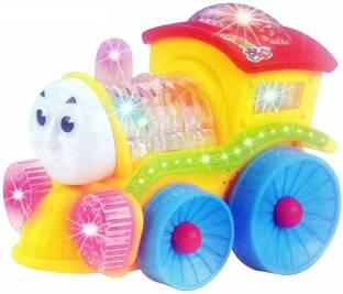 PS Aakriti Musical Engine Train Toy for Kids With 4d Light & Sound, Train Set Toys for Kids (Random Color)