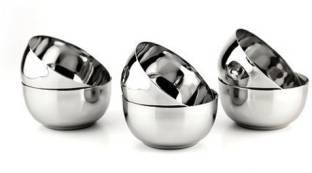 LIMETRO STEEL Stainless Steel B3-6 Steel Wati/Steel Katori Stainless Steel Vegetable Bowl