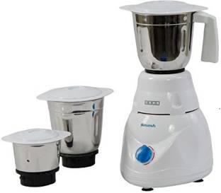USHA 8970 Smash Mixer Grinder (MG-2853) 500-Watt 3 Jars (White) 600 Mixer Grinder (3 Jars, White)