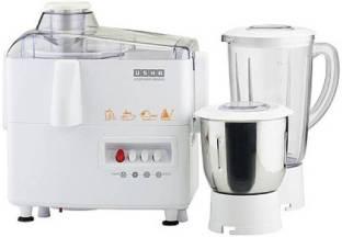 USHA 8956 3345 450-Watt Juicer Mixer Grinder with 2 Jars (White) 450 Mixer Grinder (2 Jars, White)