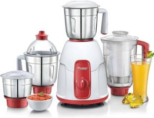 Prestige ELEGANT 750 W Juicer Mixer Grinder (4 Jars, Red)