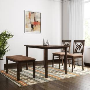 @Home by nilkamal Alice Solid Wood 4 Seater Dining Set