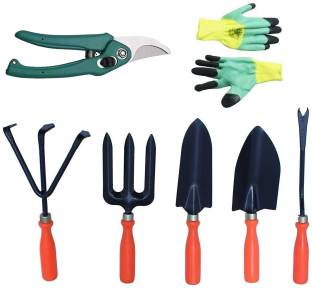 JetFire Gardening Tool with gloves and pruning Set of 7 Garden Tool Kit
