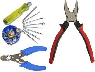 Deals Destination combo Of Wire Stripper ,Plier and Combination Screwdriver Set