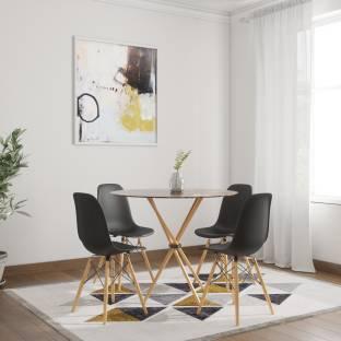 HomeTown Corona Dining Set Metal 4 Seater Dining Set