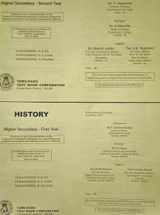 Tamilnadu History Books - Class Xi And Xii ( 2 Books - Photocopy Only)