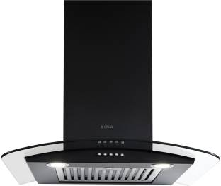 Elica GLACE SF ETB PLUS LTW 60 NERO PB LED with Installation Kit Included Wall Mounted Chimney
