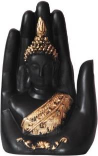Kunti Craft Big Palm Lord Buddha Idols Statue Showpiece For Home Decor Decorative Showpiece  -  18 cm