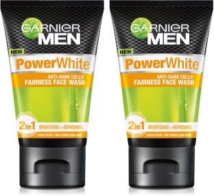 Garnier Men Men Power White Anti-Dark Cells  (Pack of 2) Face Wash