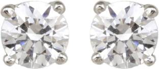 7042fbf4e Dilan Jewels Dilan Jewels LOVE Collection 925 Silver 0.50 Ct. Swarovski  Unisex Ear Studs For