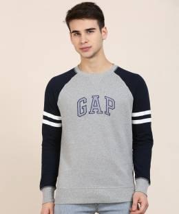 GAP Full Sleeve Applique Men Sweatshirt