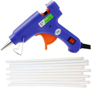 Hotmelt GLUN BLUE 20W 20WATT WITH 10 TRANSPARENT STICKS Standard Temperature Corded Glue Gun
