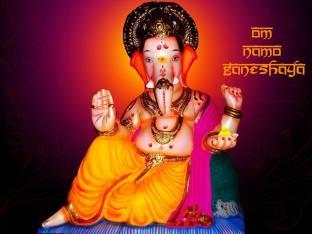 EurekaDesigns Religious Poster Shirdi Sai Baba ji Golden