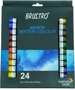 Brustro Artists' Watercolour Set of 24 Colours X 12ML Tubes
