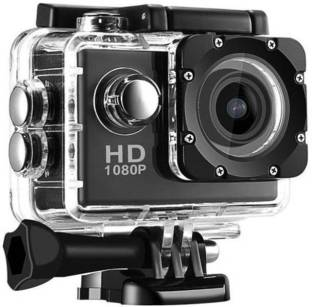 LIZZIE 1080P 16MP Sports Action Camera with Micro SD Card Slot/Action Video Camera/ 2 Inch LCD 170 Deg...