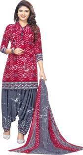 AZAD DYEING Faux Georgette Printed Salwar Suit Dupatta Material