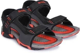 8d00d37ebda5f6 Action Men Black Sports Sandals