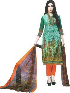 AZAD DYEING Cotton Printed Salwar Suit Dupatta Material