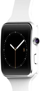 KUKSHYA X6 White Bluetooth SIM Memory enabled Smartwatch