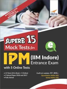 SUPERB 15 Mock Tests for IPM (IIM Indore) Entrance Exam with 5 Online Tests