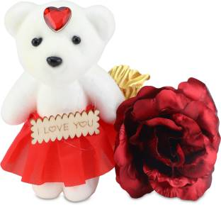 Artificial & Dried Flowers Women Rose Bear Toys Birthday Party Wedding Romantic Doll Anniversary Valentine Gifts Decoration For Girl Friend Regular Tea Drinking Improves Your Health Artificial Decorations