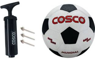 Cosco Mundial Football With Pump Football   Size: 5